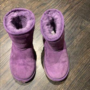 Ugg kids purple boots size 12 kids